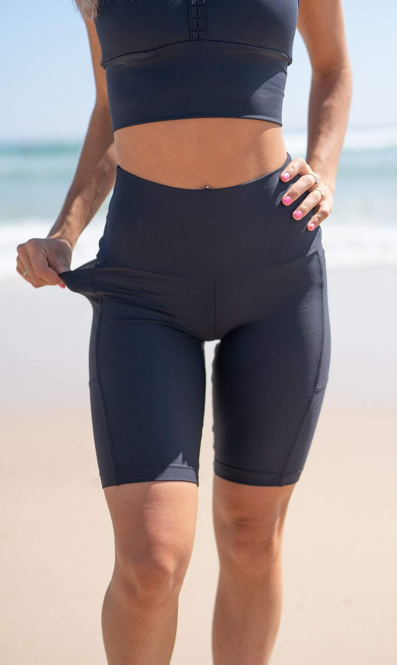 Midnight Biker Shorts with Pockets - Be Activewear