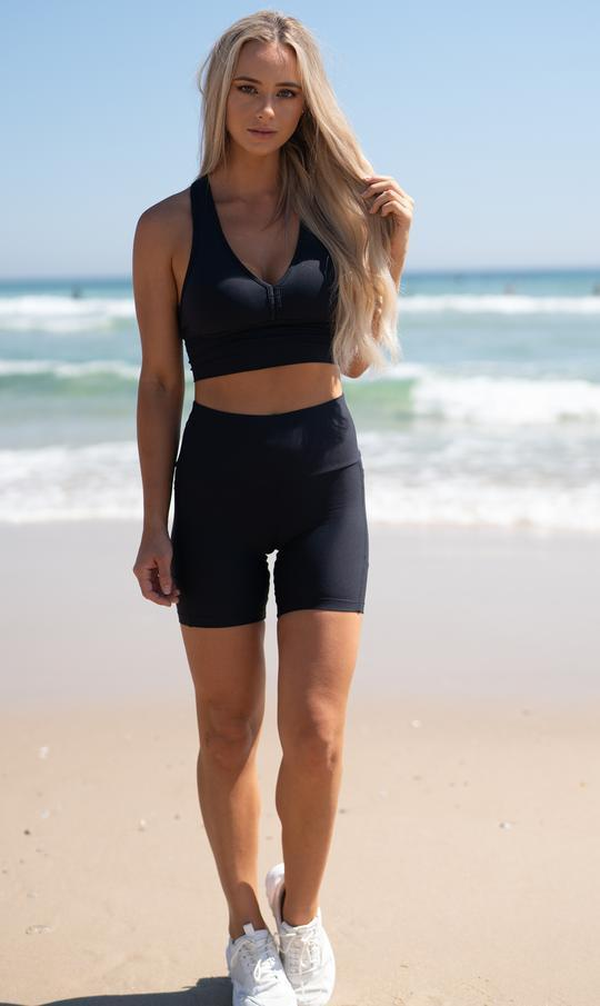 Midnight Midi Shorts with Pockets - Be Activewear