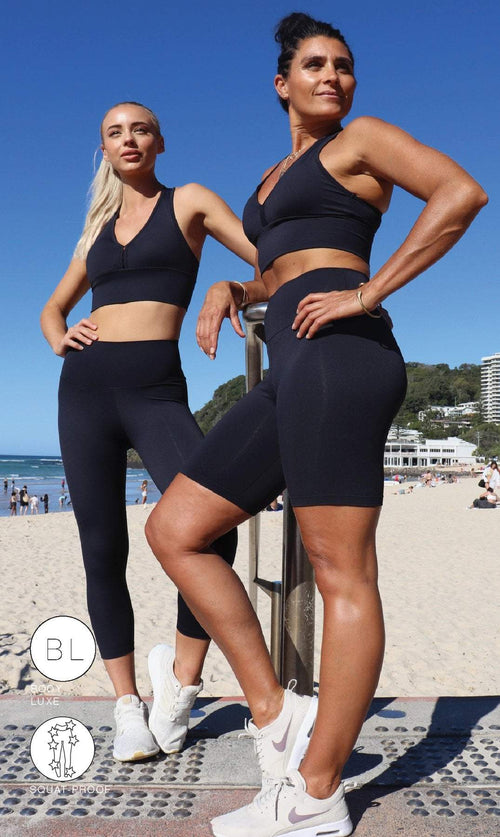 Midnight Body Luxe Biker Shorts - Be Activewear