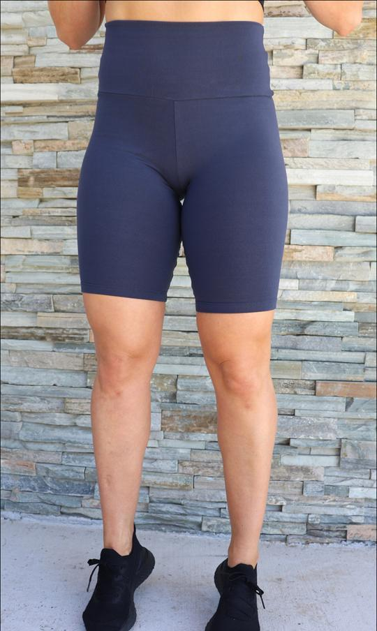 Navy Body Contouring Biker Shorts - Be Activewear