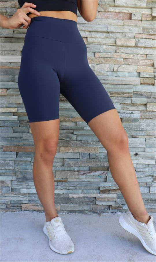 Navy Body Luxe Biker Shorts - Be Activewear
