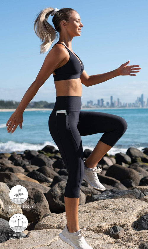 Midnight Capri Leggings with Pockets - Be Activewear