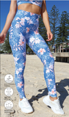 Hibiscus Kiss Extra Long Leggings - Be Activewear