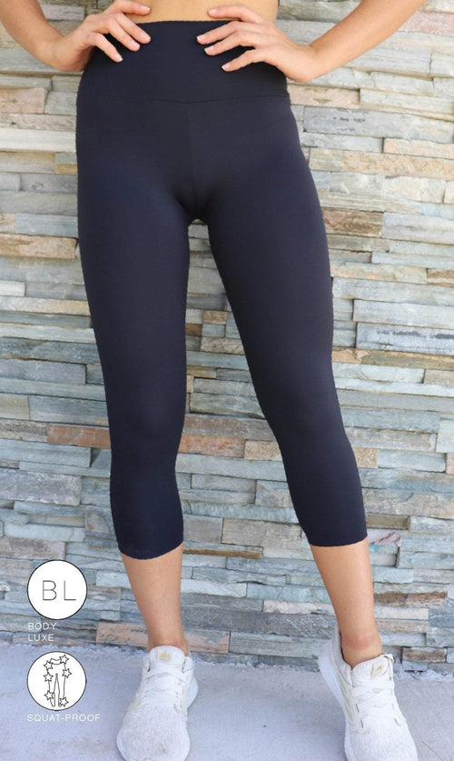 Midnight Body Luxe Ultra High Waist 3/4 Leggings - Be Activewear