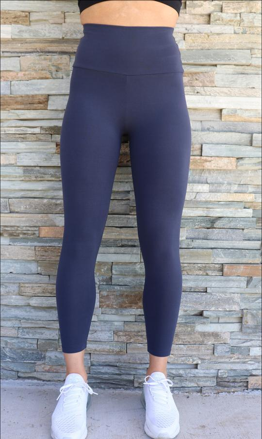 Navy Body Contouring Ultra High Waist Leggings - Be Activewear