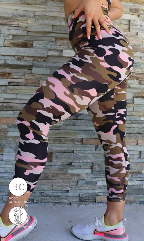Urban Camo Body Contouring Ultra High Waist Leggings - Be Activewear