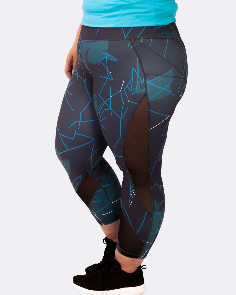 Curvy Chic Compression tights Spring Inspo Mesh Sculpt Tights