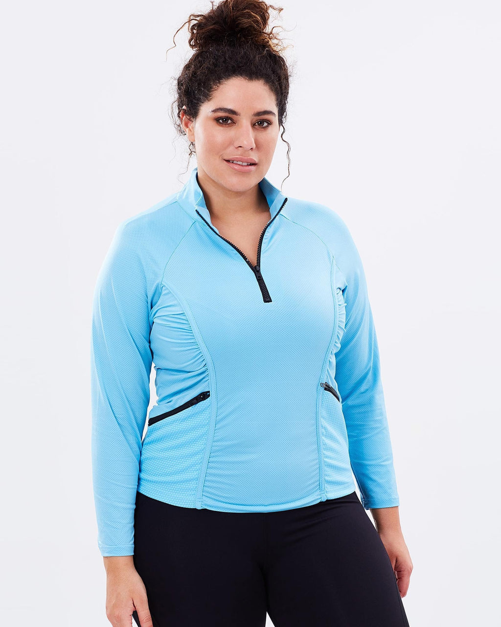 Stay Cool Long Sleeve Top - Blue - Be Activewear