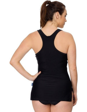 Curvy Chic Swimmers Racer Back Tankini Top