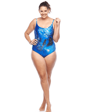 Curvy Chic Swimmers Sea Spray One Piece