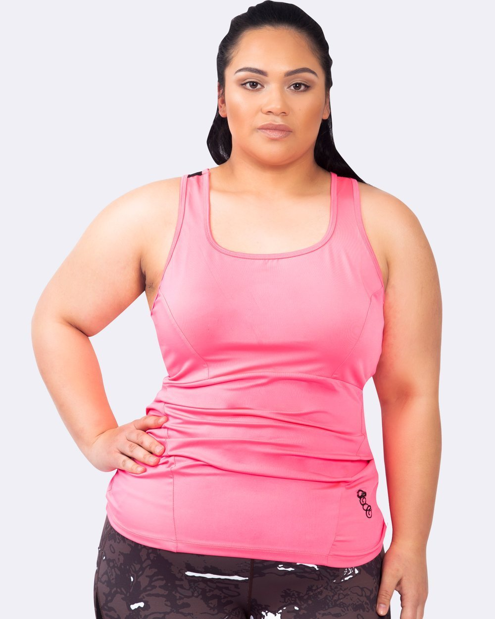 Action Back Tank - Coral - Be Activewear