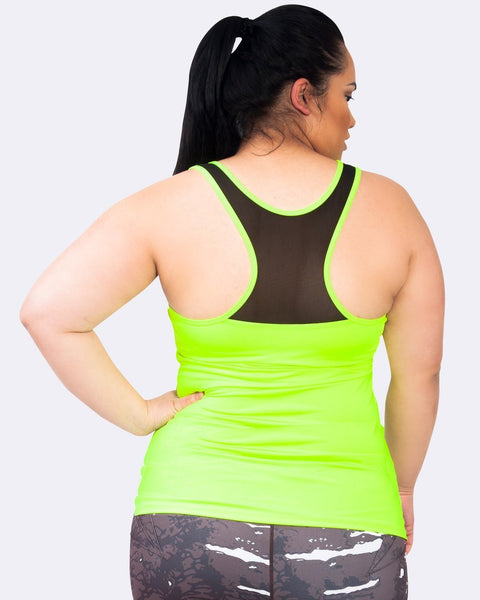 Action Back Tank - Lime - Be Activewear