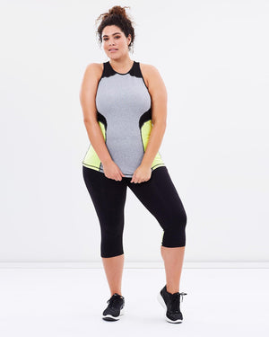 Tempo Tank - Green - Be Activewear