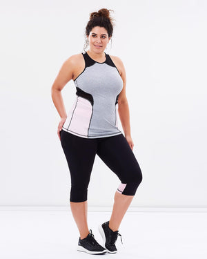 Tempo Tank - Pink - Be Activewear