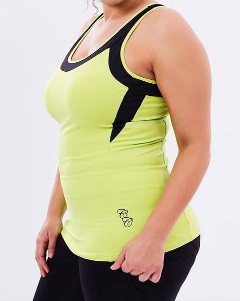 Curvy Chic Tanks Workout Tank - Green