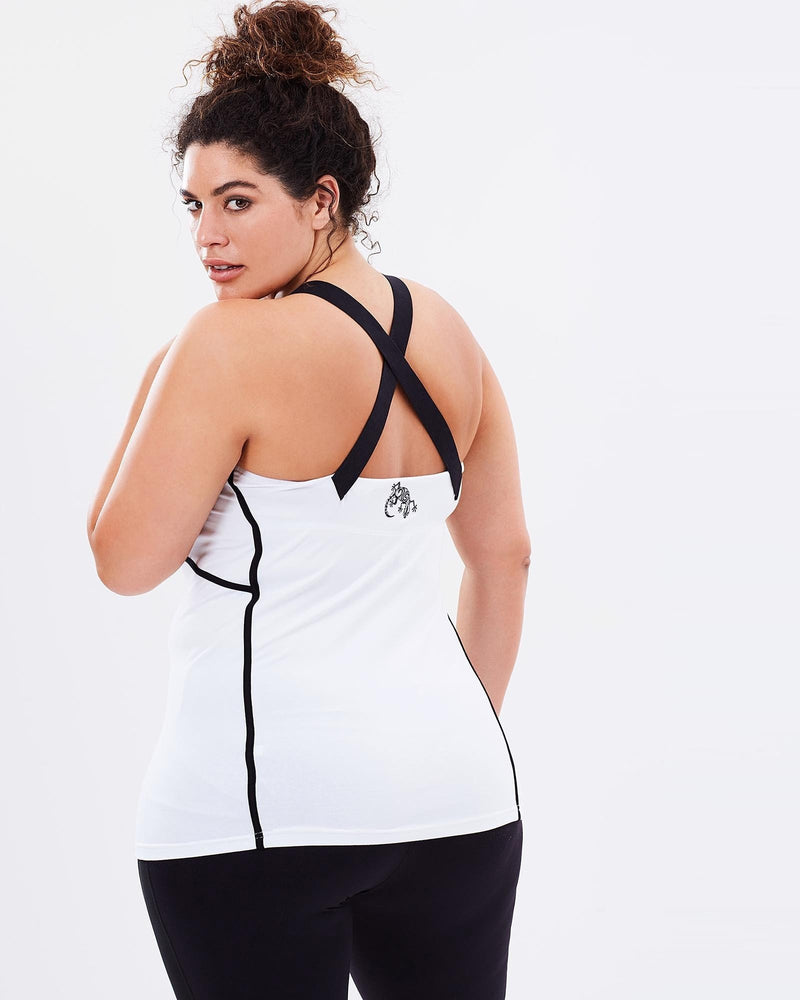 Zenith Tank - White - Be Activewear