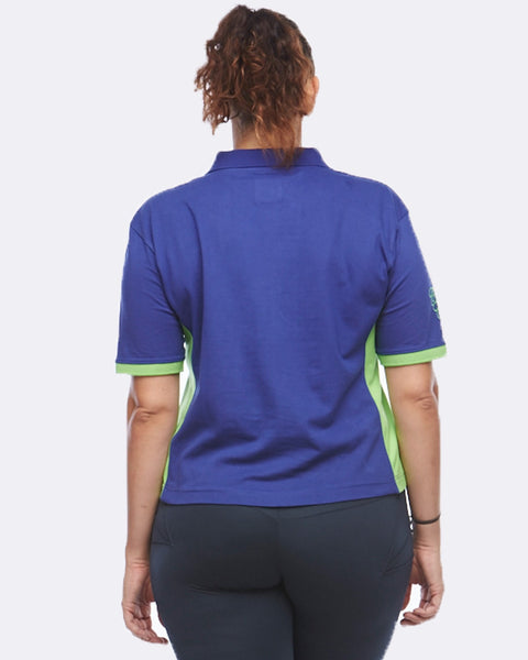 EQ Polo - Blue / Green - Be Activewear