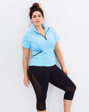 Stay Cool Short Sleeve Top - Blue - Be Activewear