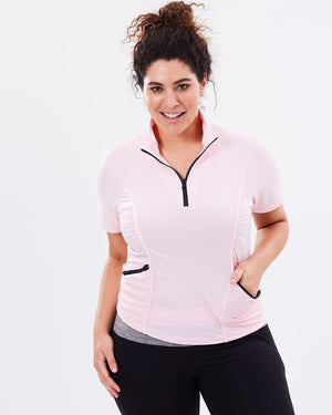 Curvy Chic Tshirt Stay Cool Short Sleeve Top - Blush