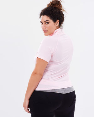 Stay Cool Short Sleeve Top - Blush - Be Activewear