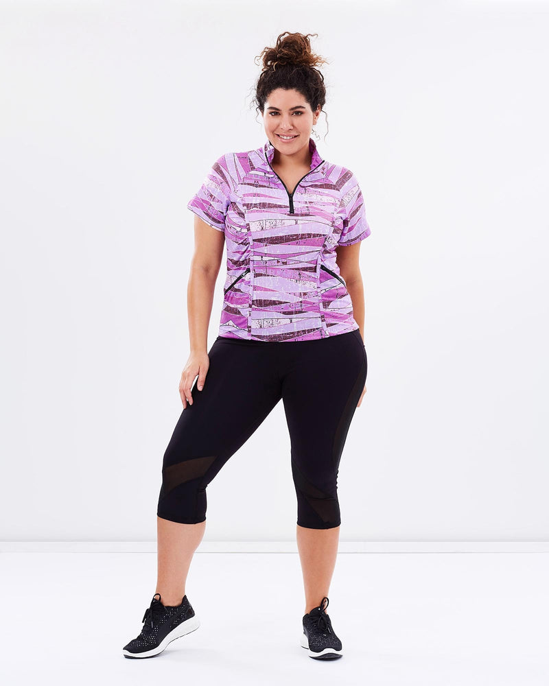 Stay Cool Short Sleeve Top - Blush Print - Be Activewear