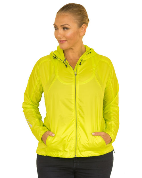 Curvy Chic Womens Hoodie Sun Seeker Wind and Rain Breaker - Neon