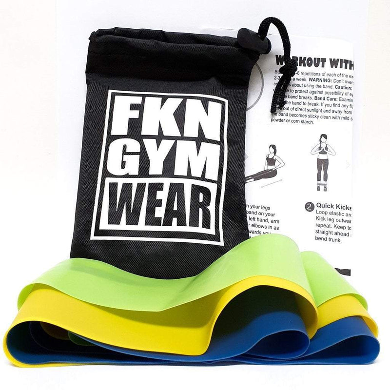 FKN Gym Wear Resistance Bands | 3 Pack - Be Activewear