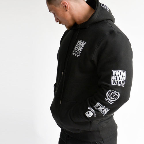 Men's Gym Hoodie - Black - Be Activewear
