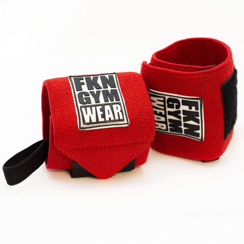 FKN Wrist Wraps | Red - Be Activewear