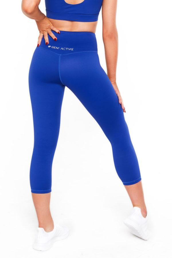Ava's 7/8th Tights (Blue) - Be Activewear
