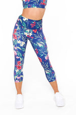 Floral 7/8th Tights - Be Activewear