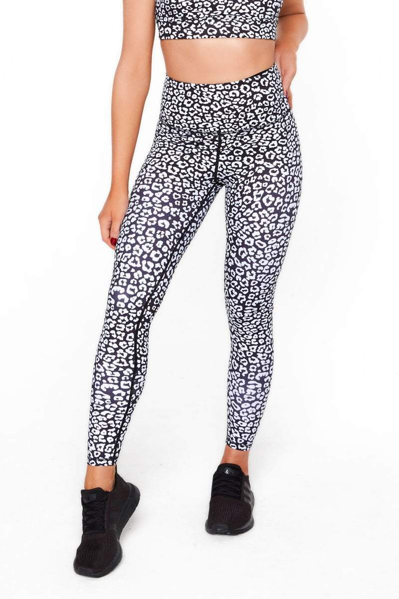 Leopard Full Length Tights - Be Activewear