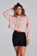 Pink GOAT Signature Crop Hoodie - Be Activewear