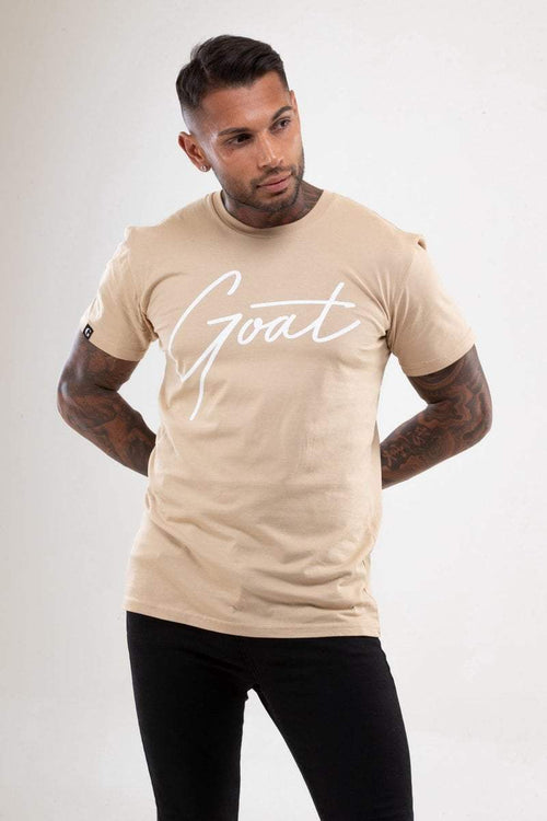 BEIGE GOAT SIGNATURE T-SHIRT (Unisex) - Be Activewear