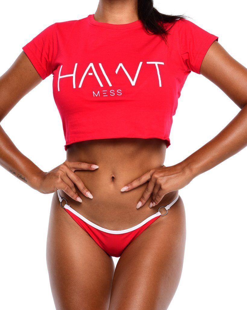 HAWT Mess Tee - Red - Be Activewear