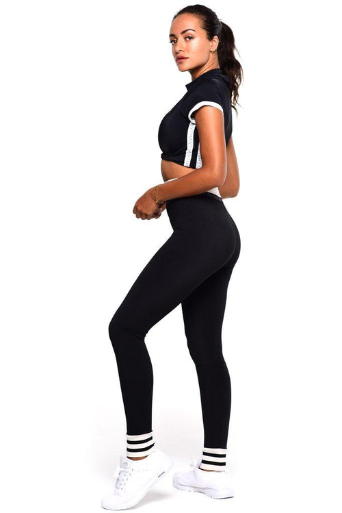 Luna tapered leg jogger - Black - Be Activewear