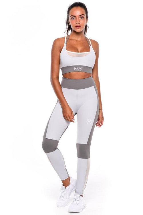 The Aurora Sports Bra - Grey - Be Activewear