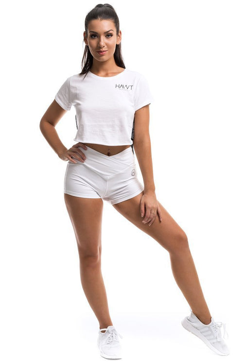 Ex & Ohs Shorts - White - Be Activewear