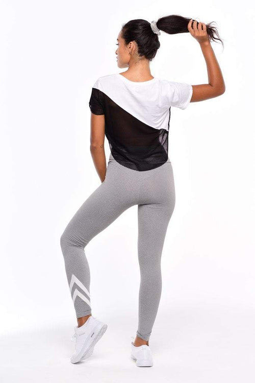 Basic Mesh Tee- White - Be Activewear