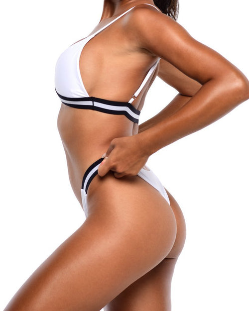 Iris Bikini Bottoms- White - Be Activewear