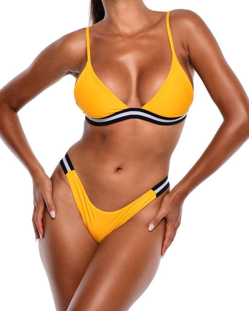 Iris Bikini Bottoms- Yellow - Be Activewear