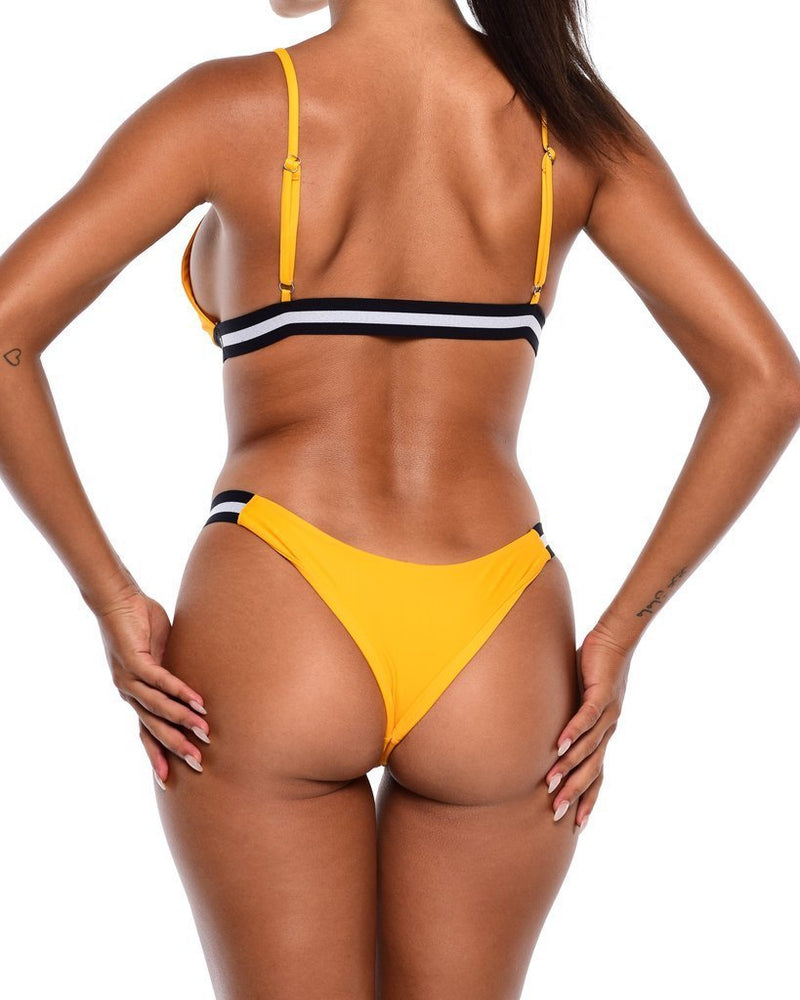Hawt Apparel Swimmers Iris Bikini Bottoms- Yellow