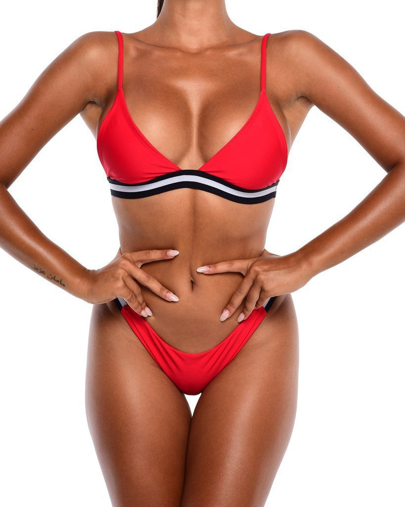 Hawt Apparel Swimmers Iris Bikini Top - Red