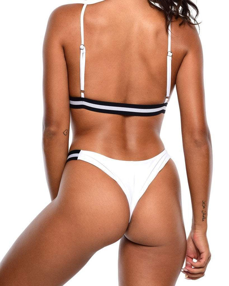 Iris Bikini Top - White - Be Activewear