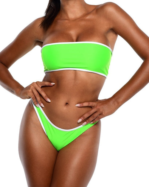 Neon Bikini Bottoms -Green - Be Activewear