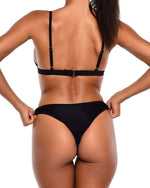 NYX Mesh Bikini Bottoms- Black - Be Activewear