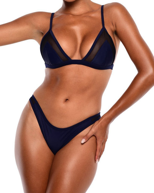 NYX Mesh Bikini Bottoms - Royal Blue - Be Activewear