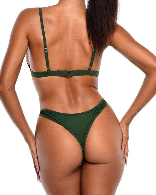 NYX Mesh Bikini Bottoms -Royal Green - Be Activewear