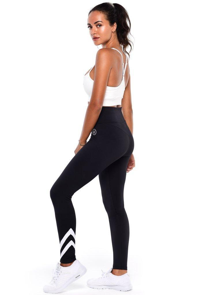 Extra High Waisted Tights- Black - Be Activewear