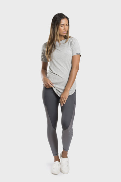 Bamboo Crew Neck Top - Grey - Be Activewear